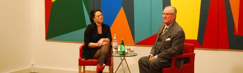 SAR Le Prince Consort Henrik de Danemark et Stéphanie Surrugue, à l'occasion de la sortie du livre Enegænger - Portræt af en Prins, mars 2011.