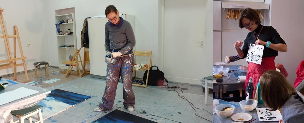 Atelier avec l artiste peintre anja kornerup bang maison - Atelier artiste peintre ...